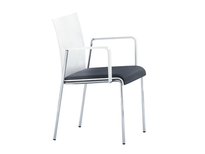 Upholstered chair with armrests VERONA | Upholstered chair by Brunner