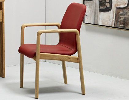 Leather easy chair with armrests 8477AL | Easy chair by Dyrlund