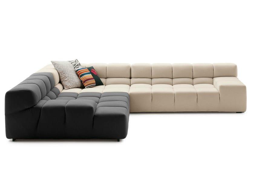 Corner sectional fabric sofa TUFTY TIME | Corner sofa by B&B Italia