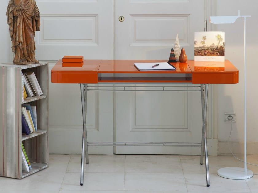 Schreibtisch Aus MDF Mit Schubladen COSIMO LAQUÉ BRILLANT By Adentro
