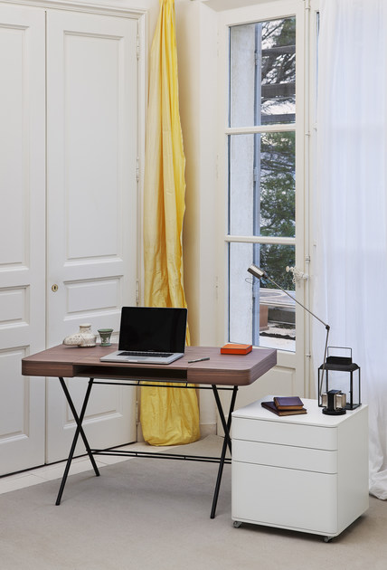 Toll MDF Writing Desk COSIMO NOCE CANALETTO By Adentro