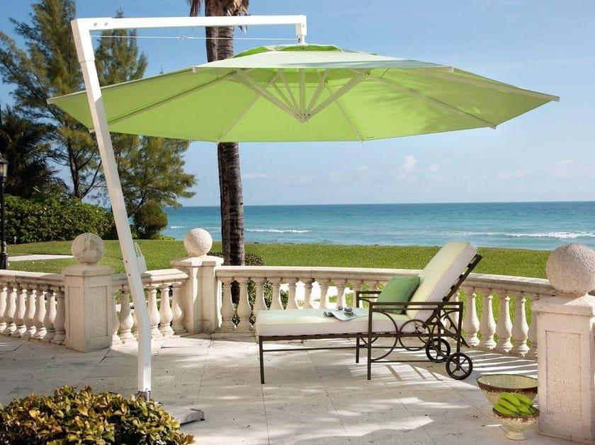 Offset adjustable round Garden umbrella AMALFI | Round Garden umbrella by Caravita