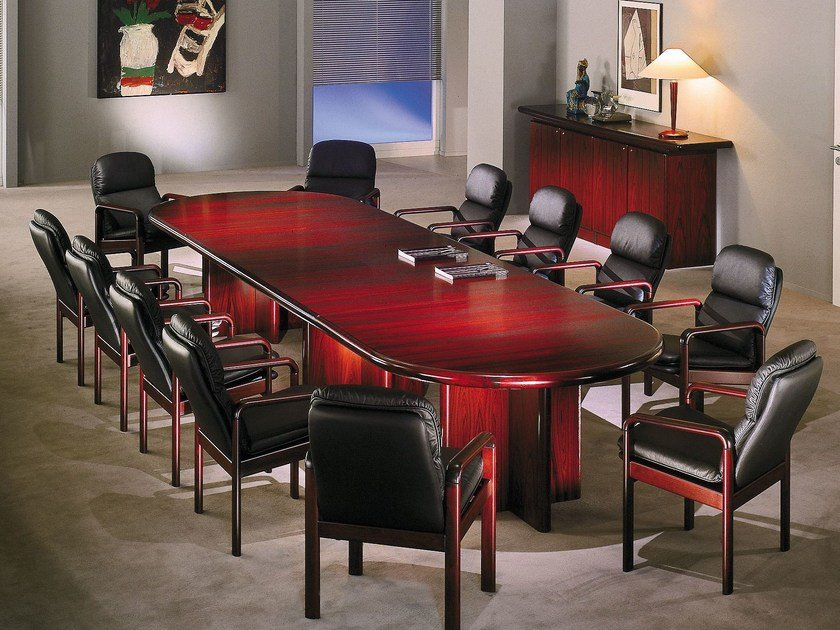 Wooden conference table UNIVERSAL | Conference table by Dyrlund