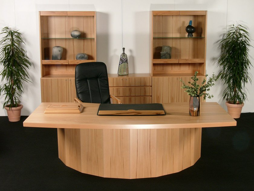 Scrivania direzionale in legno starline scrivania for Scrivania direzionale