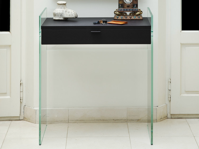Glass console table with drawers ZEN 13 | Console table by Adentro