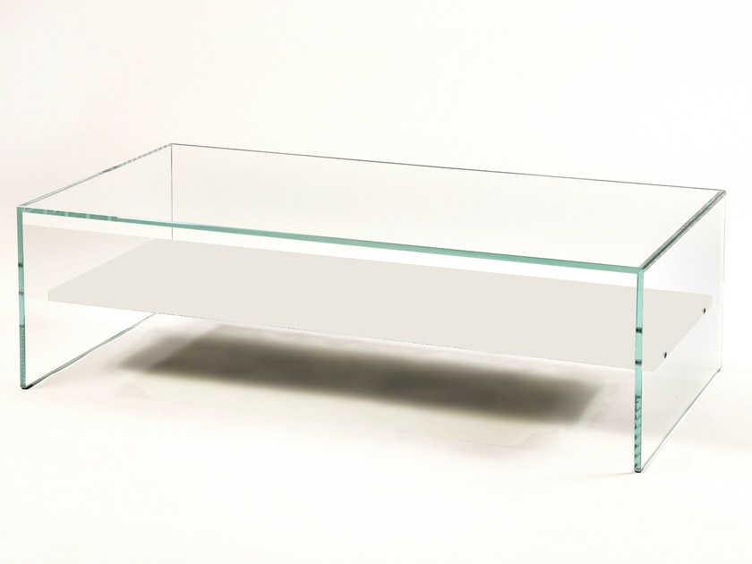 Low glass coffee table ZEN 11 by Adentro