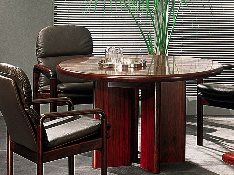 Round wooden table COMMODORE | Meeting table by Dyrlund