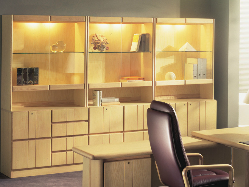 Wooden office storage unit / office shelving COMMODORE | Office storage unit by Dyrlund