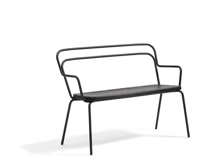 Garden bench KAFFE | Garden bench with armrests by Blå Station