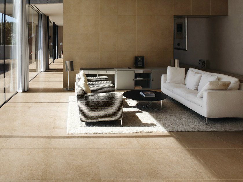 Porcelain stoneware wall/floor tiles with concrete effect MEMORIES by CERAMICA SANT'AGOSTINO