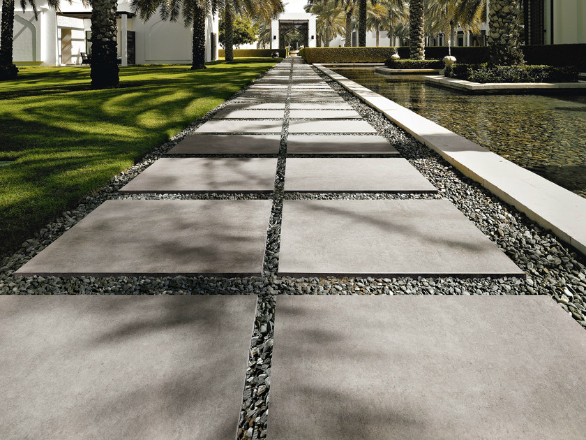 Porcelain stoneware outdoor floor tiles with concrete effect MEMORIES | Outdoor floor tiles by CERAMICA SANT'AGOSTINO
