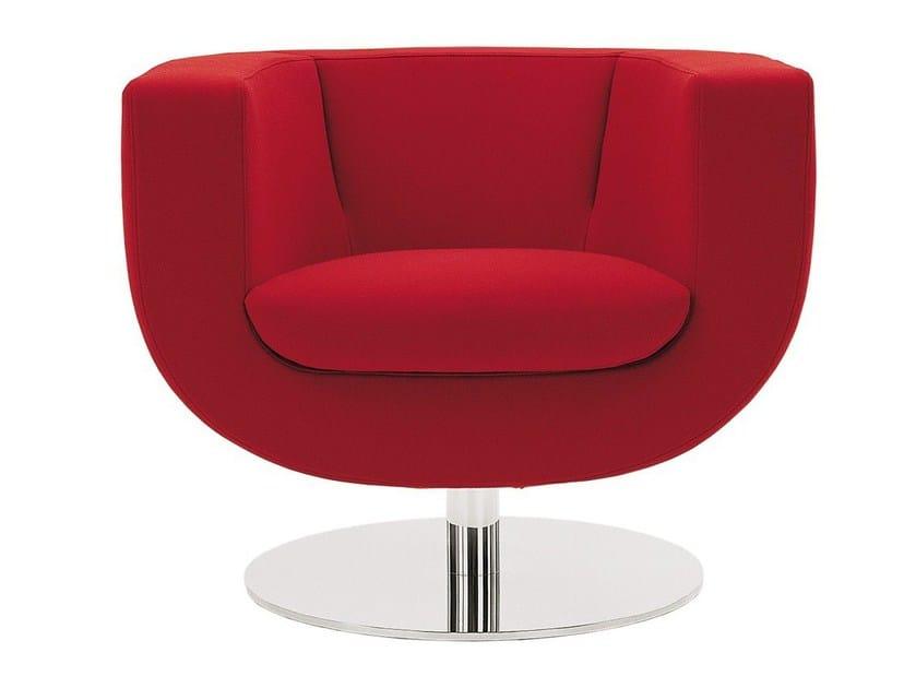 Swivel upholstered fabric armchair TULIP by B&B Italia