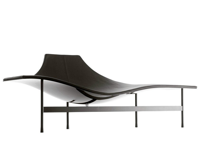 Leather lounge chair TERMINAL 1 by B&B Italia