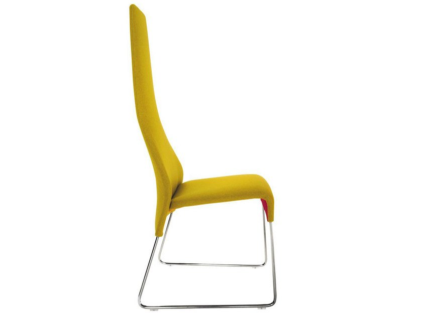 Sled base high-back fabric chair LAZY '05 | High-back chair by B&B Italia