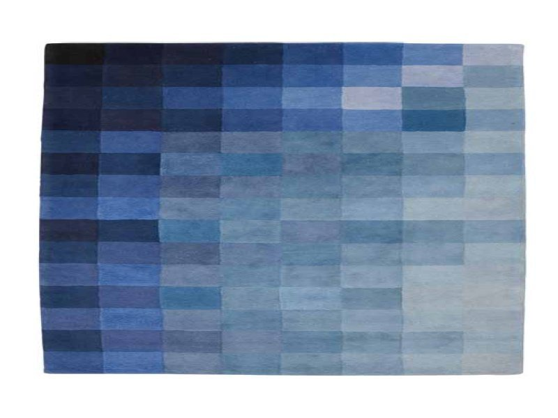 Rectangular wool rug with geometric shapes CHART by Ligne Roset