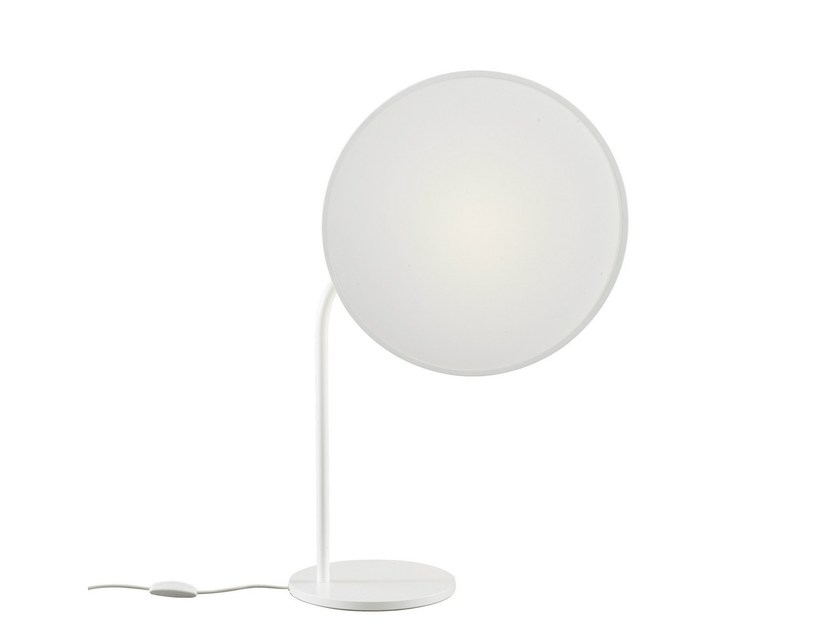 Indirect light fluorescent swivel table lamp OWL | Table lamp by Ligne Roset