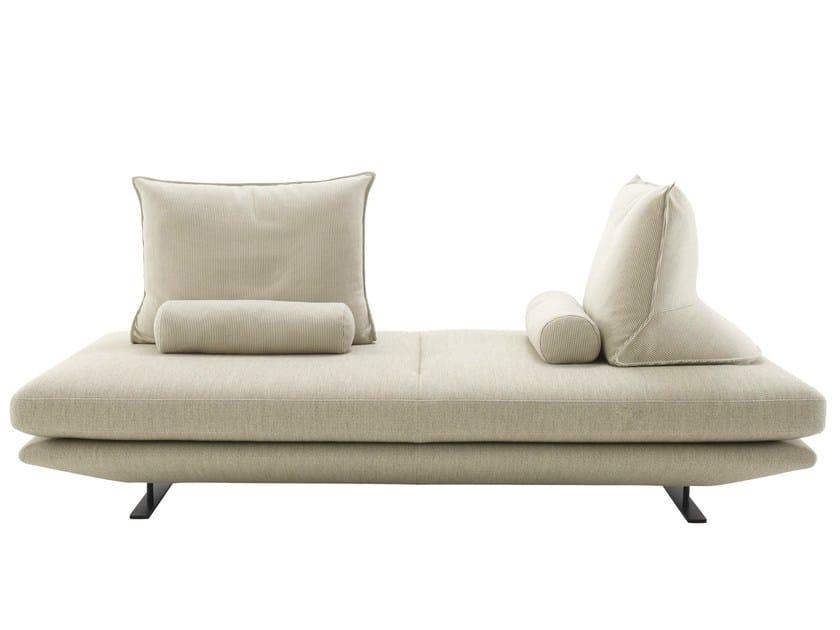 Upholstered fabric bench PRADO by Ligne Roset