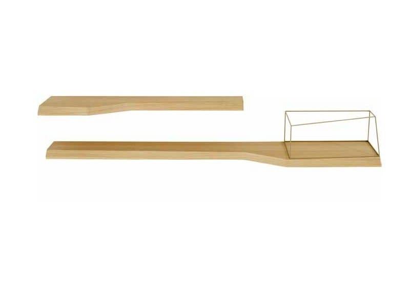 Wood veneer wall shelf TOLBIAC | Wall shelf by Ligne Roset