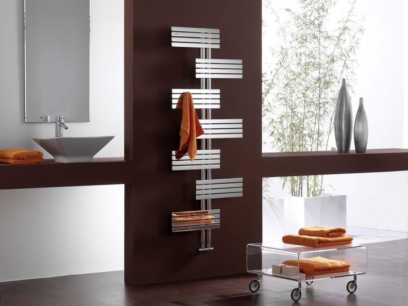 Wall-mounted decorative radiator BABYLA | Glossy steel radiator by CORDIVARI