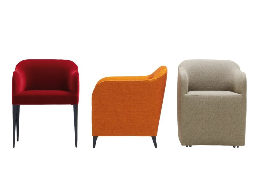 Fabric chair with armrests LUCA SOFT by Ligne Roset