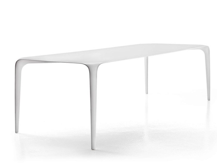 Rectangular Cristalplant® table LINK by B&B Italia