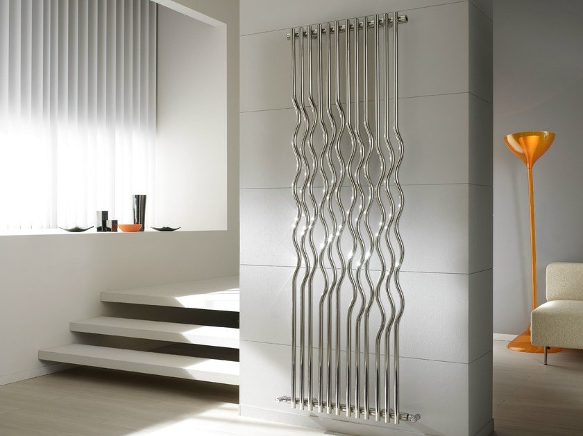 Rio glossy steel decorative radiator by cordivari design for Termosifoni da arredo