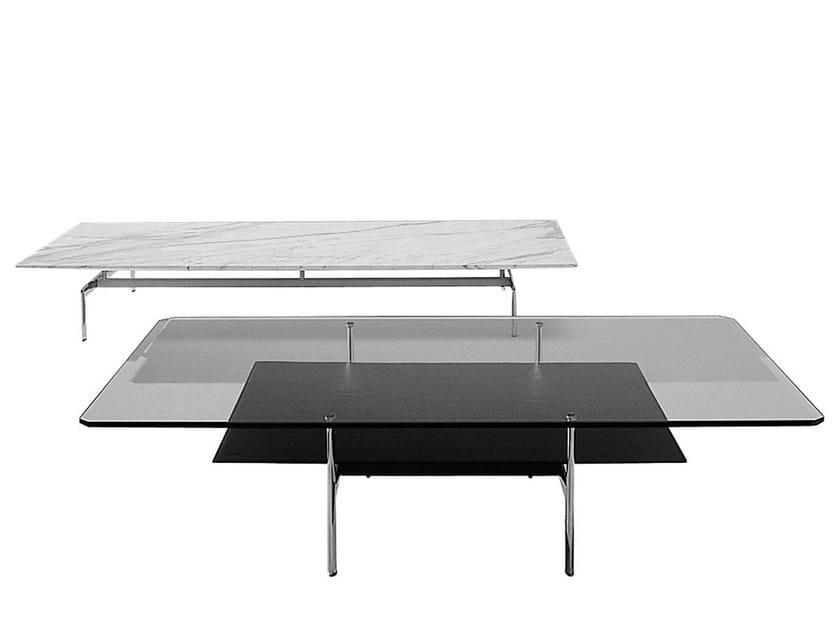 Low rectangular glass coffee table DIESIS | Low coffee table by B&B Italia