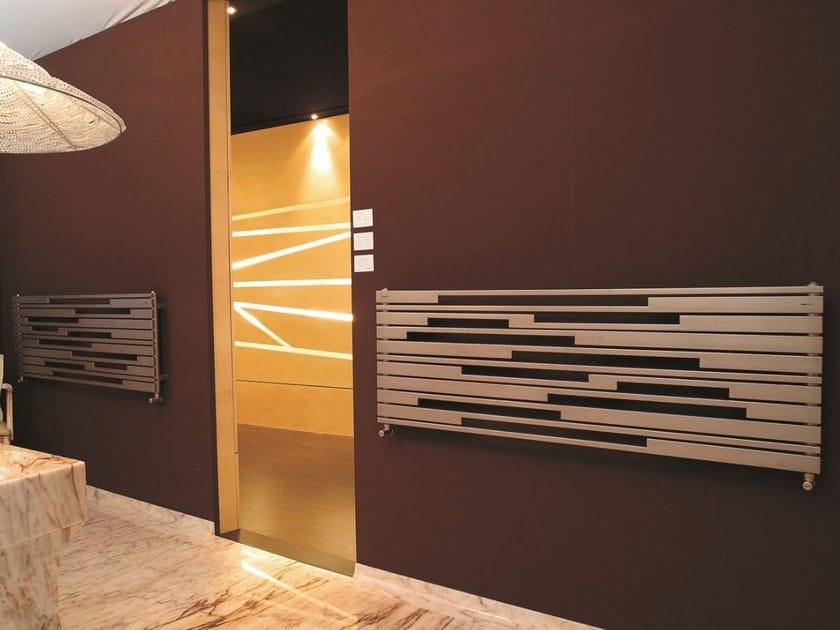 Brushed steel decorative radiator STRADIVARI OR by CORDIVARI
