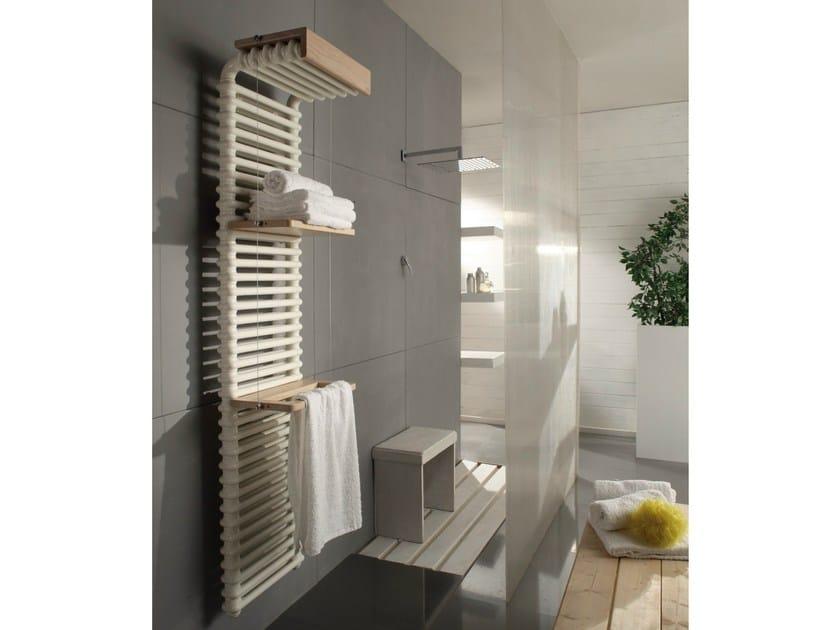 Wall-mounted carbon steel towel warmer BRIDGE by CORDIVARI