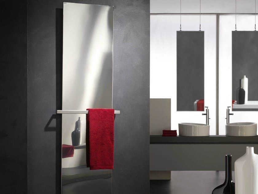 Hot-water vertical panel radiator FRAME INOX LUCIDO VT by CORDIVARI