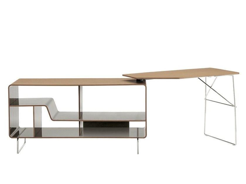 Writing desk with bookcase ARNE   Writing desk by B&B Italia