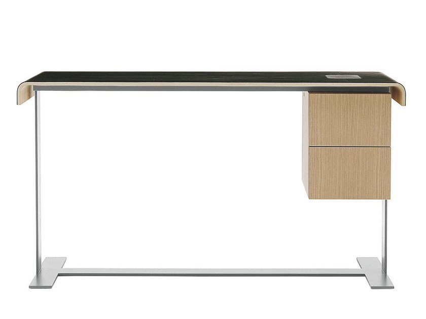 Wooden writing desk with drawers EILEEN | Writing desk by B&B Italia