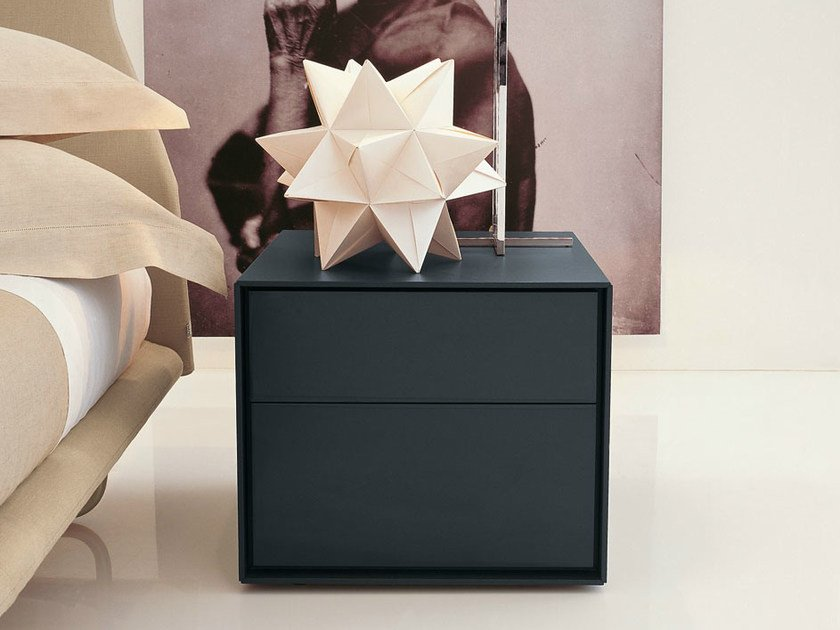 Rectangular bedside table with drawers DADO   Bedside table with drawers by B&B Italia