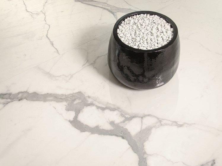 Flooring with marble effect ULTRA MARMI - STATUARIO ALTISSIMO by ARIOSTEA