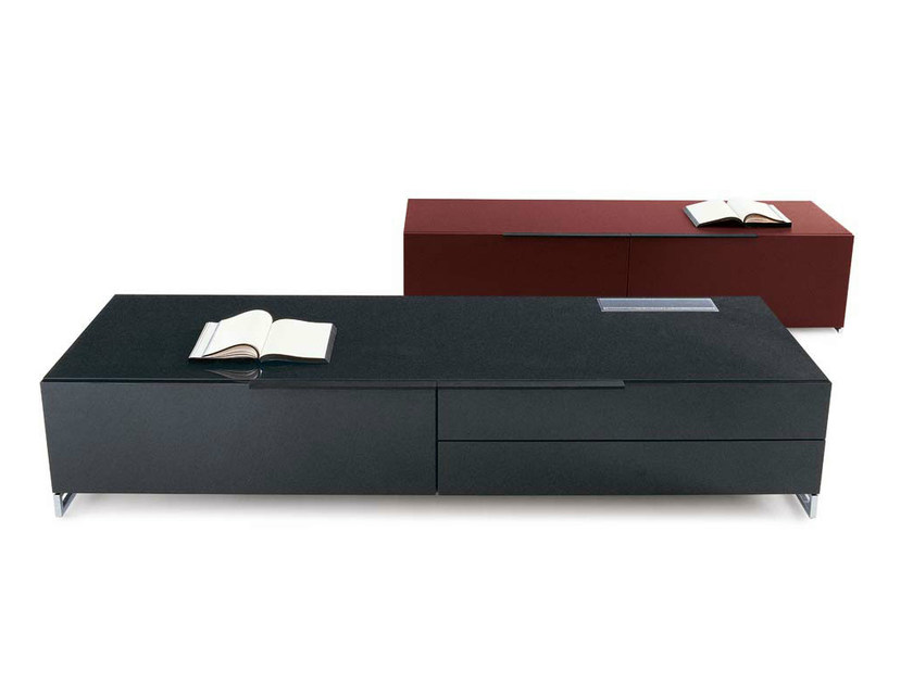 Low TV cabinet with drawers ATHOS | Low TV cabinet by B&B Italia