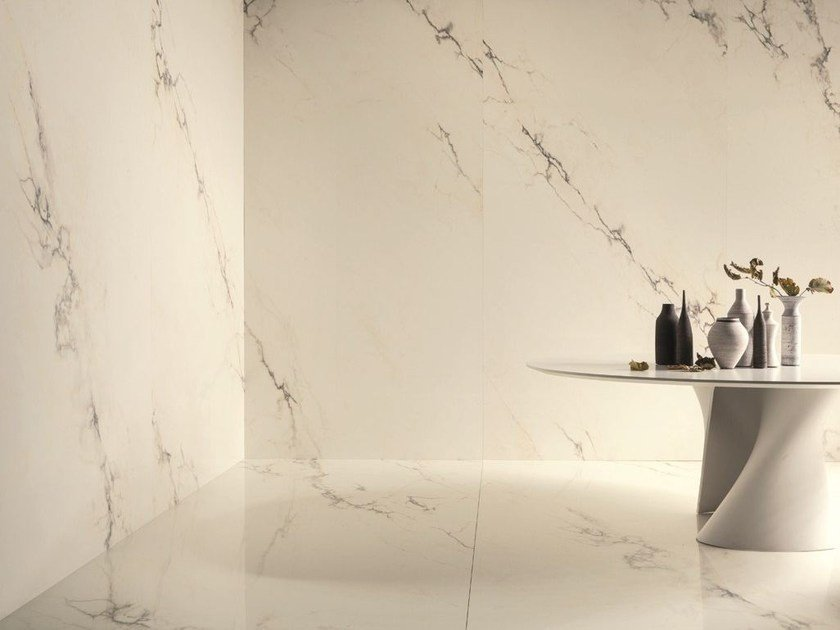 Wall/floor tiles with marble effect ULTRA MARMI - PAONAZZETTO S by ARIOSTEA