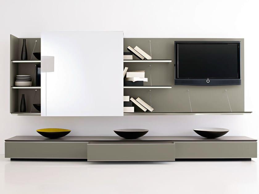 Sectional TV wall system PAB | Storage wall by B&B Italia