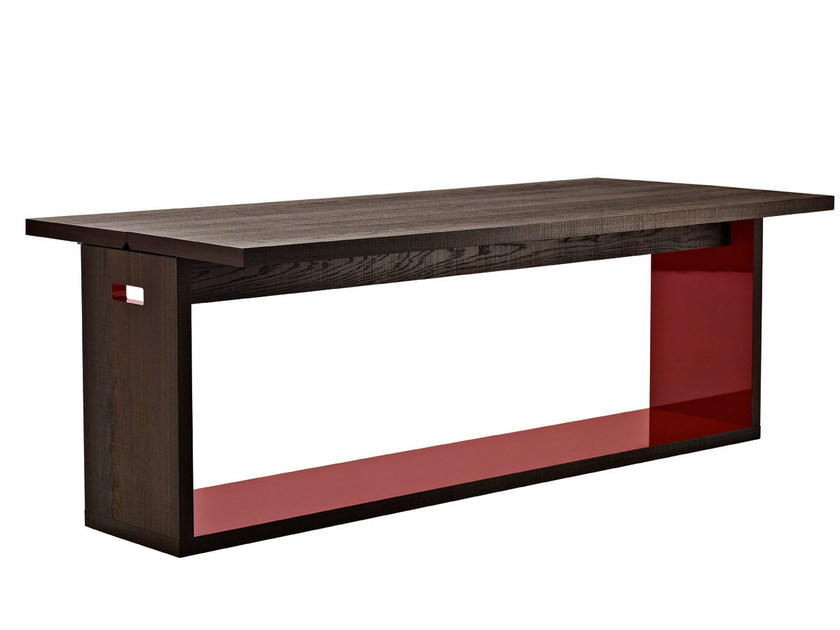 Extending solid wood console table FRANK | Console table by B&B Italia