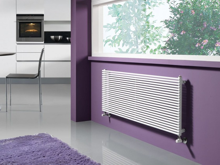 Wall-mounted powder coated steel radiator ALICE OR by CORDIVARI