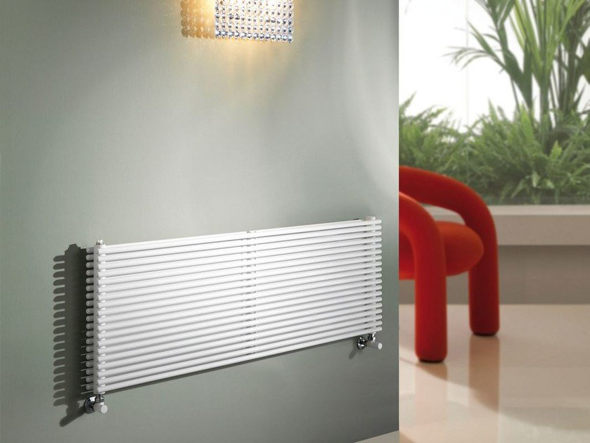 Wall-mounted carbon steel radiator ALICE TANDEM OR by CORDIVARI