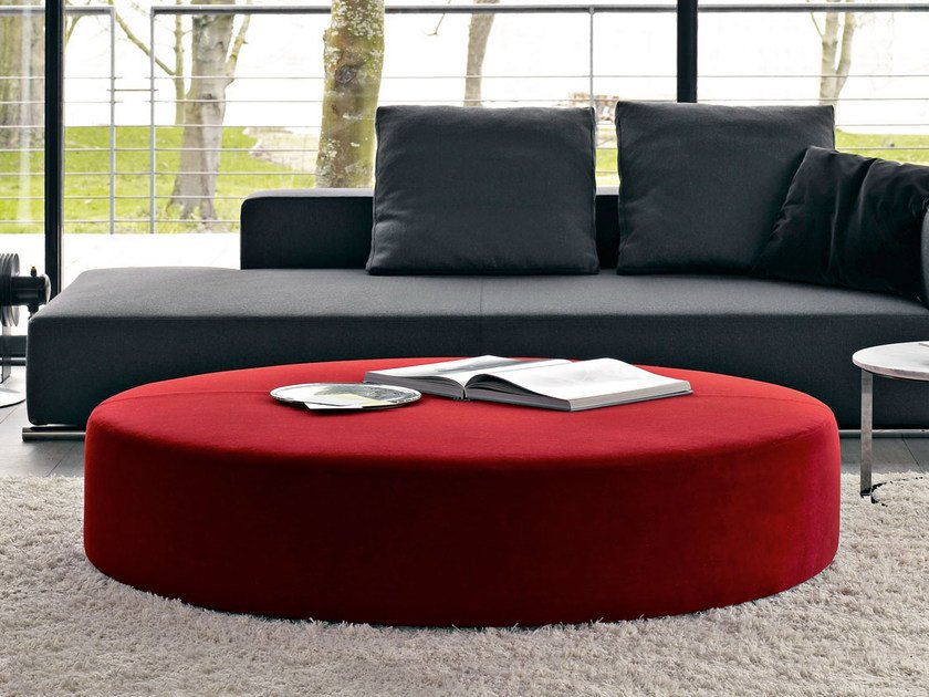 Upholstered fabric pouf HARRY LARGE | Fabric pouf by B&B Italia