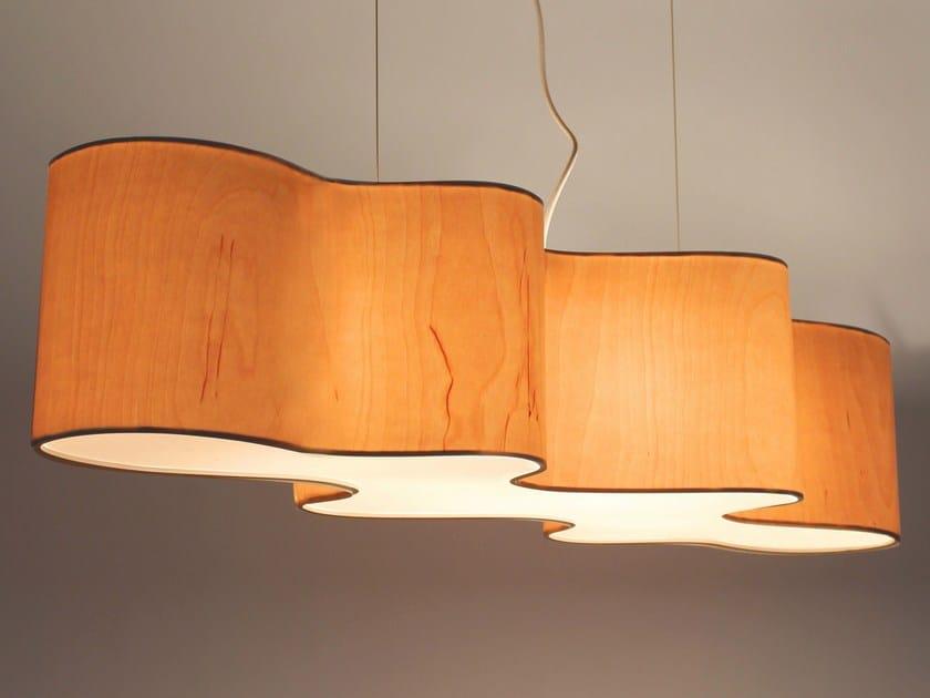 Wood veneer pendant lamp cloud mesa by lampa wood veneer pendant lamp cloud mesa by lampa mozeypictures Images