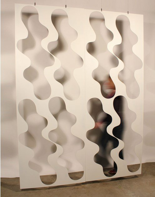 Aluminium room divider CLOUD SCREEN by Lampa