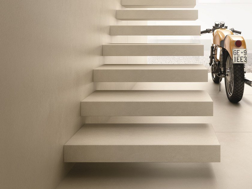 Flooring with concrete effect ULTRA iCementi - SILVER by ARIOSTEA
