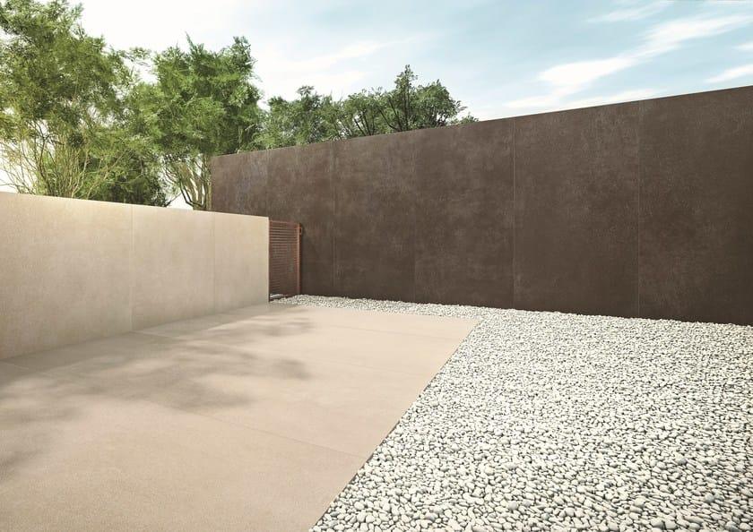 Pavimento effetto cemento ULTRA iCementi - BRONZE by ARIOSTEA