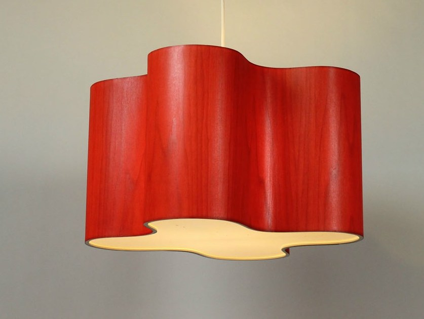 Indirect light pendant lamp CLOVER by Lampa