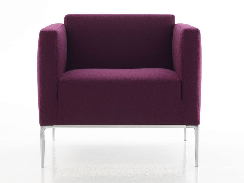 Upholstered fabric armchair with armrests JEAN 2013 | Armchair by B&B Italia Project