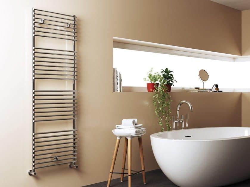 Wall-mounted stainless steel towel warmer LEILA by CORDIVARI