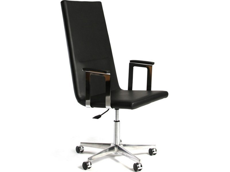 Leather task chair with armrests BASSO XL   Leather chair by Inno
