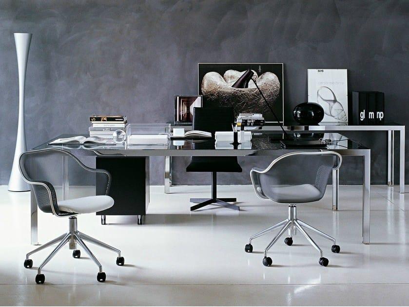 Mesh task chair with 5-Spoke base IUTA by B&B Italia Project